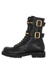 Alexandre Vauthier 30Mm Buckled Leather Combat Boots
