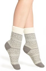Women's Urban Knit Reversible Fair Isle Crew Socks