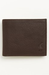 Polo Ralph Lauren Men's Bifold Leather Wallet Brown