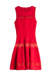 Azzedine Alaia Zig Zag Dress Red