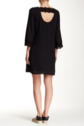 Daniel Rainn 3 4 Length Sleeve Lace Boho Shift Dress Black