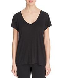 Yummie Tummie Yummie By Heather Thomson Ribbed V Neck Tee Black