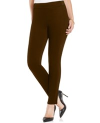 Charter Club Pull On Twill Skinny Pants Only At Macy's Rich Truffle
