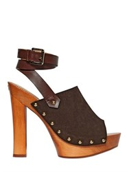 Dsquared 140Mm Suede And Leather Sandals
