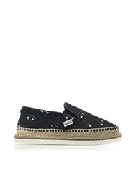 Kenzo Kasual Black Eyes Canvas Platform Espadrille