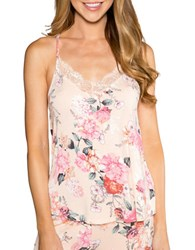 Pj Salvage Rosy Outlook Floral Print Cami Peach