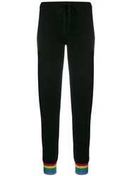 Madeleine Thompson Pieve Cashmere Track Pants Black