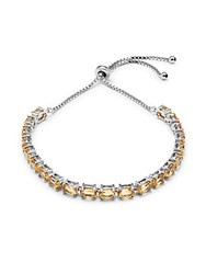 Saks Fifth Avenue Citrine Stone And Sterling Silver Bracelet
