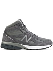 New Balance Hi Top Sneakers Suede Polyester Rubber Grey