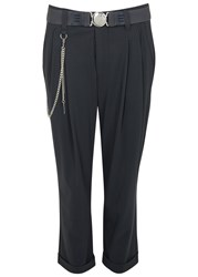 High Courage Charcoal Cropped Trousers Black