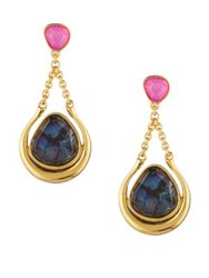 Trina Turk Hollywood Hills Abalone Drop Earrings Pink