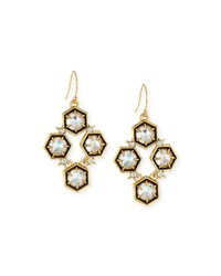 Mosaic Crystal Drop Earrings Clear Alexis Bittar