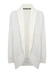 Therapy Shawl Collar Lounge Cardigan Grey