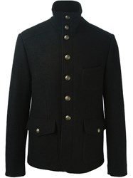 Dolce And Gabbana Military Style Jacket Black
