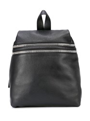 Kara Double Zip Backpack Black