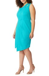 Rebel Wilson X Angels Plus Size Women's Asymmetrical Cutout Sheath Dress Viridian Green