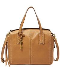 Fossil Emma Leather Satchel Brown