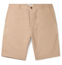Universal Works Linen And Cotton Blend Canvas Shorts Neutrals