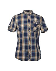 Blend Of America Blend Short Sleeve Shirts Dark Blue