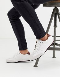 Boss Lighter Lowp Leather Trainers In White
