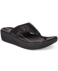 Easy Spirit Boathook Flip Flop Sandals Women's Shoes Black