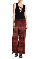 Angie Wide Leg Pant Brown