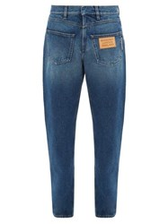 Burberry Back To Front Straight Leg Jeans Blue