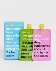 Anatomicals Asos Exclusive Hair Pack X 2 Masks Good Head Phwoar Clear
