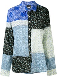 P.A.M. Perks And Mini Pam Piece By Piece Shirt Women Cotton S Blue