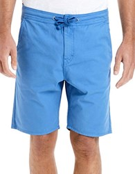 Bench Cotton Shorts With Drawcord Blue