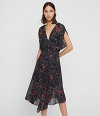 Allsaints Romina Rosalyn Dress Washed Black