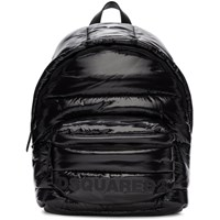 Dsquared2 Black Padded Mountain Ski Backpack
