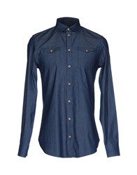 Mangano Denim Shirts Blue