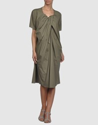 Hache 3 4 Length Dresses Military Green