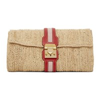 Mark Cross Ssense Exclusive Beige And Red Sylvette Clutch