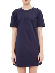 Ted Baker Colour By Numbers Charr A Line Button Detail Dress Navy