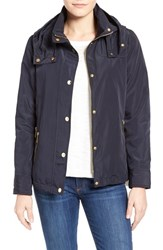 Women's Michael Michael Kors Hooded Blouson Utility Jacket Navy