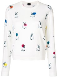 Paul Smith Ps By Rabbit Intarsia Jumper White