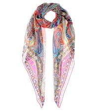 Etro Patterned Silk Scarf Multicoloured