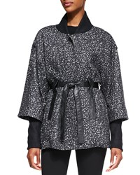 Nanette Lepore Felted Marble Cotton Wool Poncho Women's