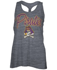 Royce Apparel Inc Women's East Carolina Pirates Nora Tank Top Charcoal
