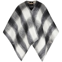 Ted Baker Emmaa Brushed Wool Checked Cape Mid Grey