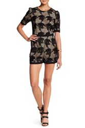 Charlie Jade Embroidered Lace Romper Multi