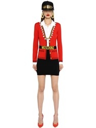 Moschino Trompe L'oeil Cotton Knit Polo Dress