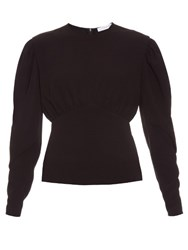 J.W.Anderson Puff Sleeved Blouse Navy