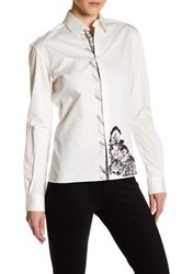 Versus By Versace Floral Detail Shirt White