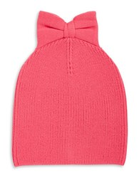 Kate Spade Bow Knit Beanie Costume Pink