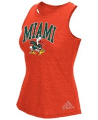 Adidas Women's Miami Hurricanes Pattern Arch Tank Orange