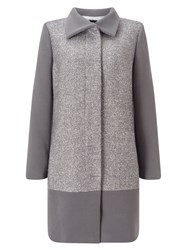 Jacques Vert Textured Block Coat Grey