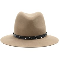 Rag And Bone Floppy Brim Wool Fedora Brown